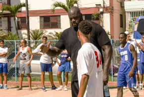 The NBA and Shaquille O'Neill dribble in Cuba